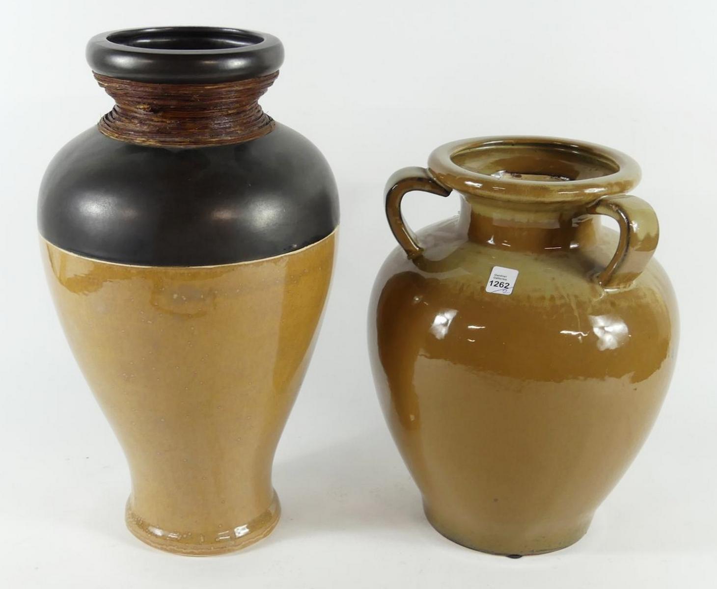 TWO CERAMIC JARS