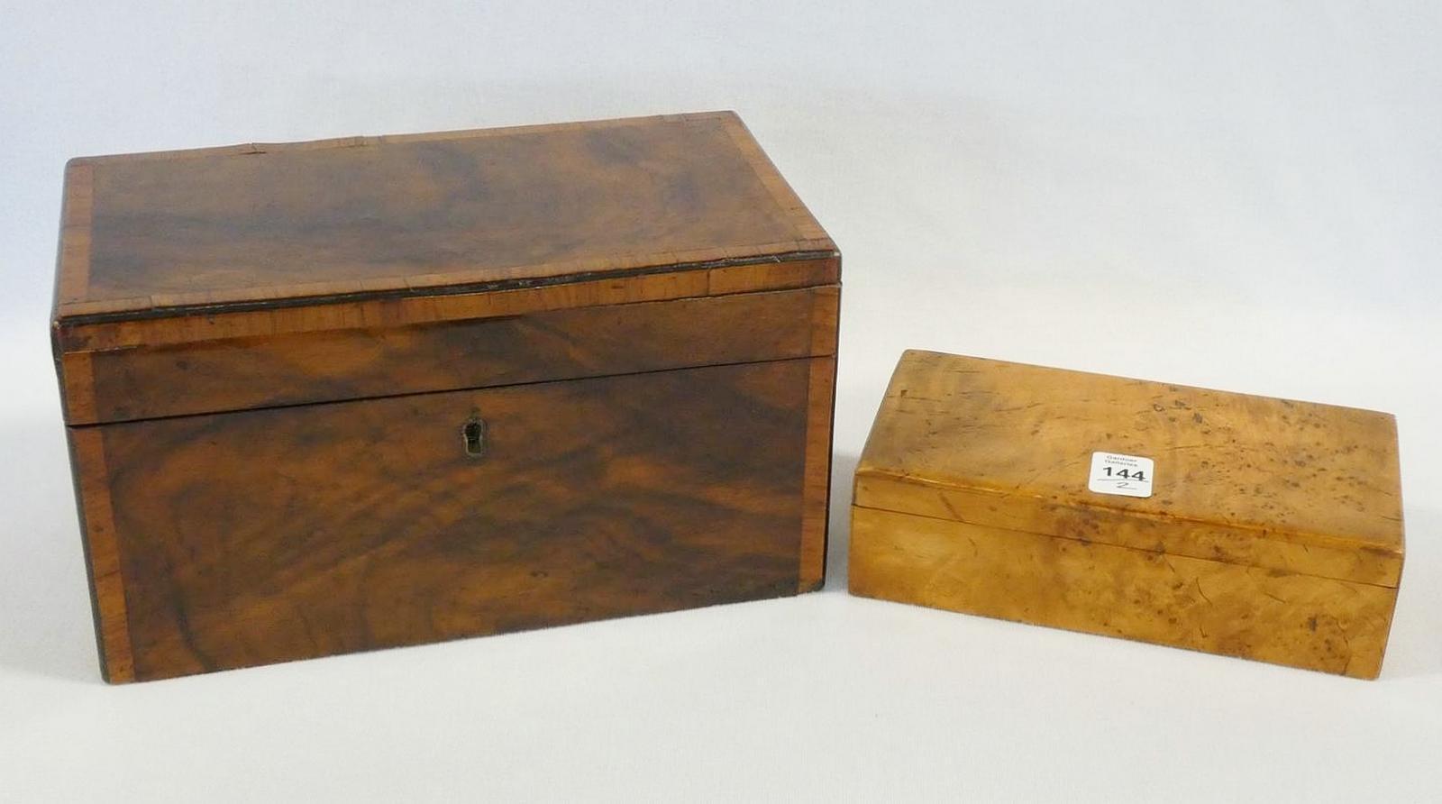 TEA CADDY AND CIGARETTE BOX