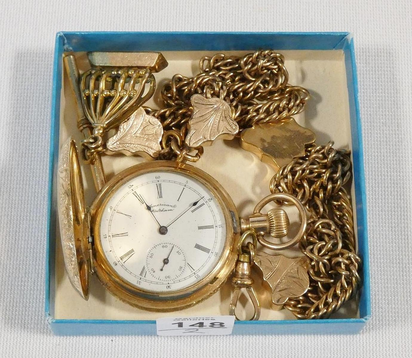 WALTHAM POCKET WATCH AND CHAIN