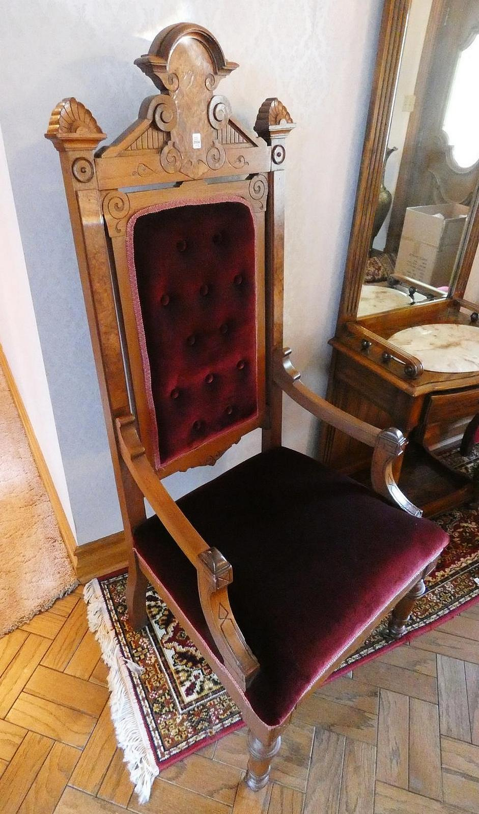 PAIR BARONIAL ARMCHAIRS