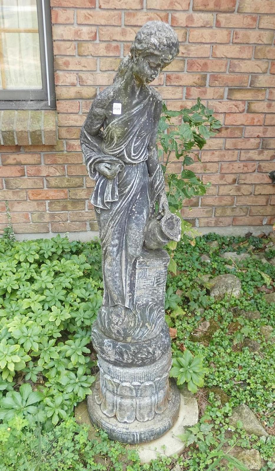 PAIR OUTDOOR STATUES