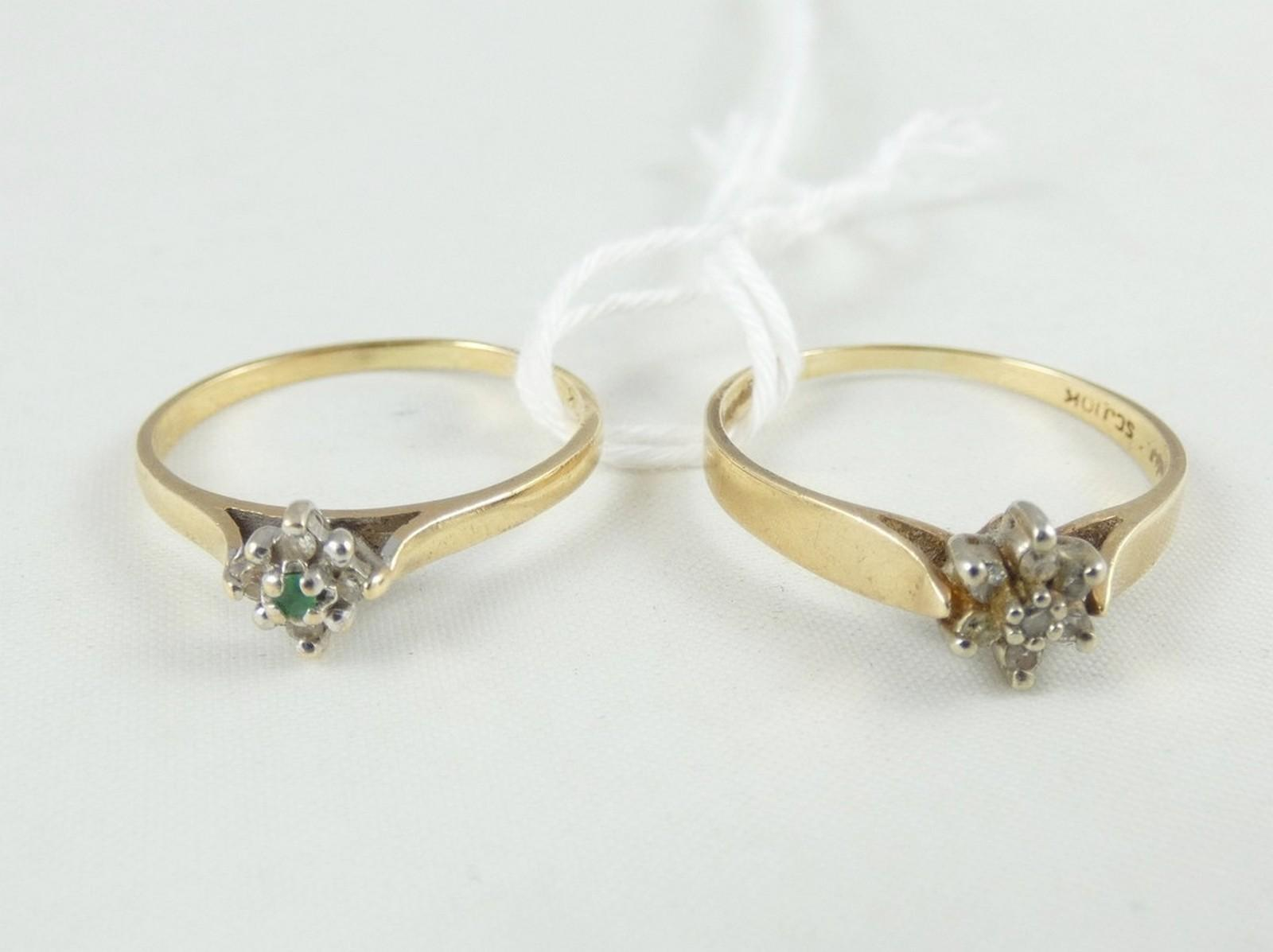 TWO DAINTY GOLD RINGS
