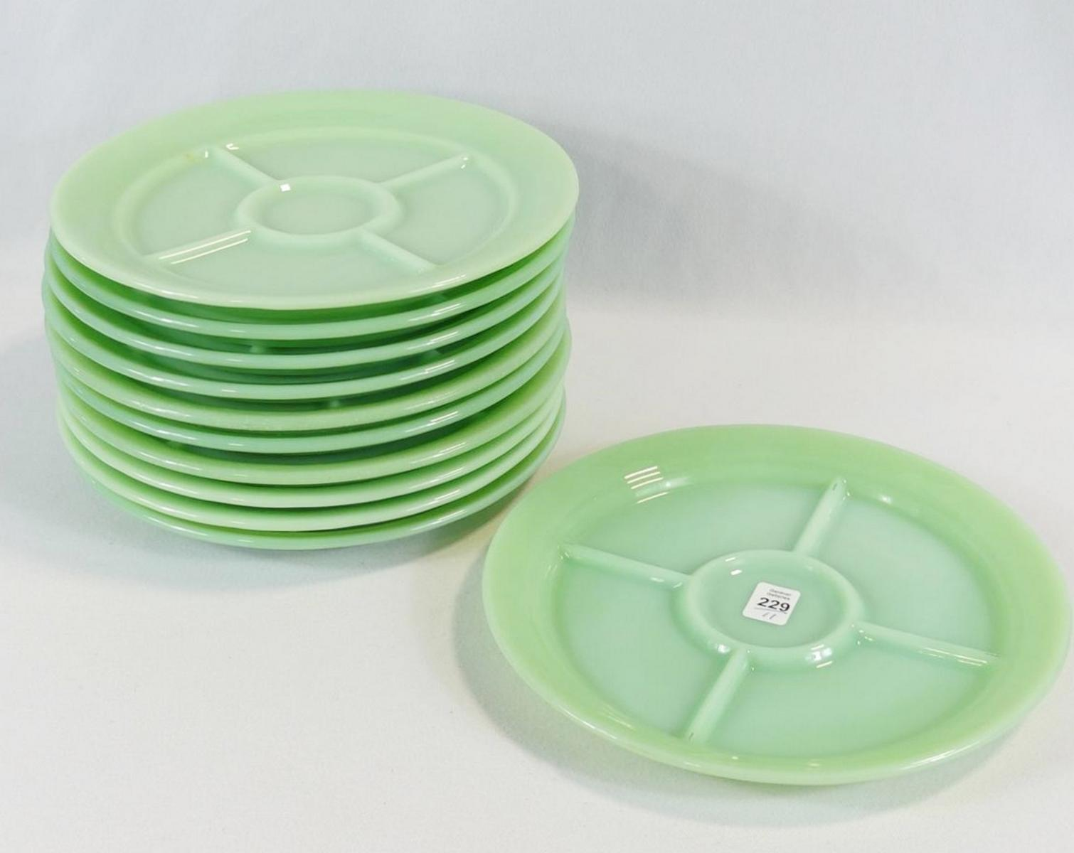 ELEVEN FIRE KING PLATES