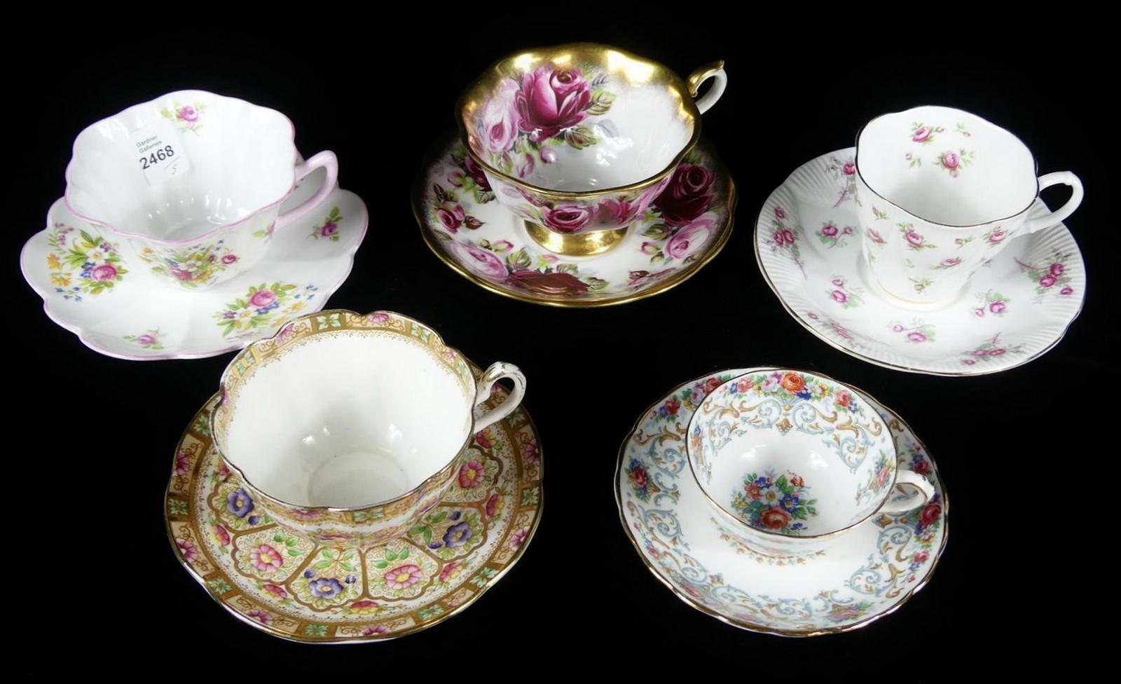 5 CUPS & SAUCERS