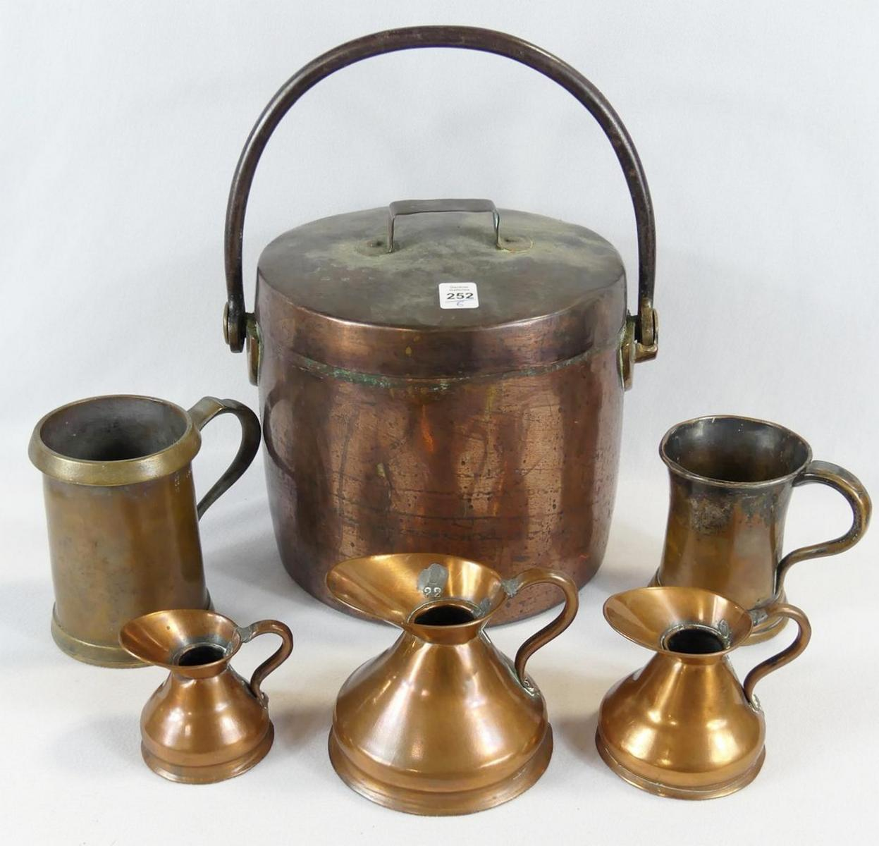 SIX PIECES OF COPPER