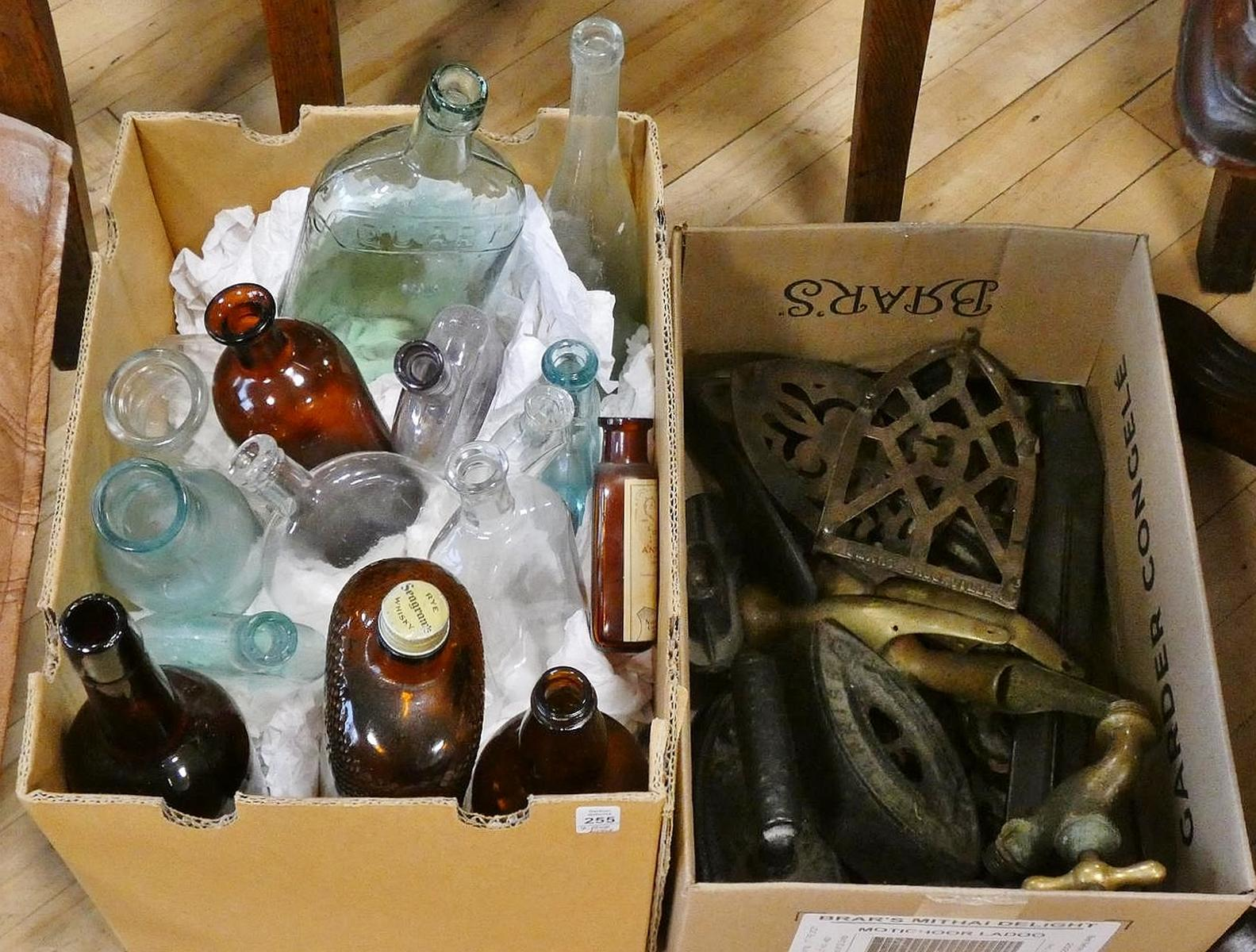 BOTTLES AND METAL WARE