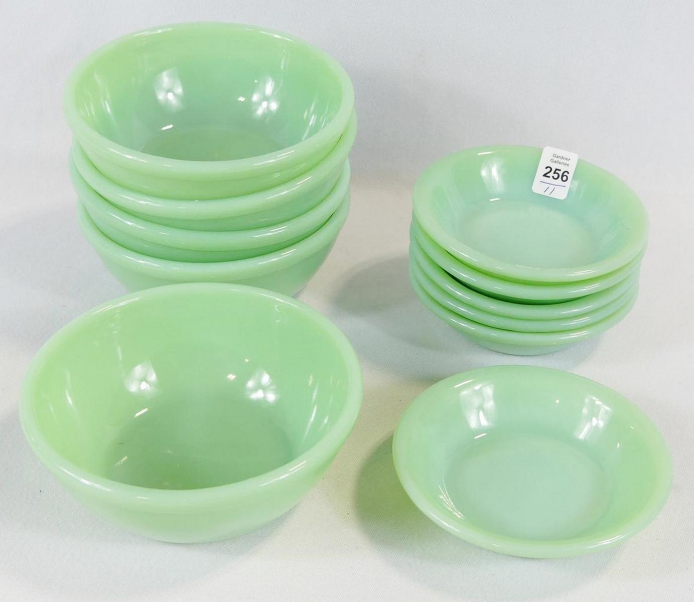 ELEVEN FIRE KING BOWLS