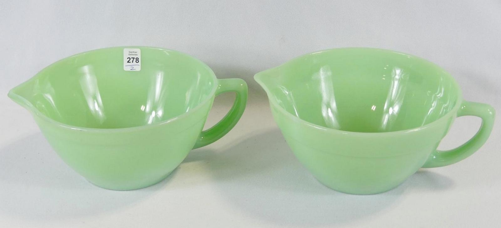 PAIR OF FIRE KING BATTER BOWLS