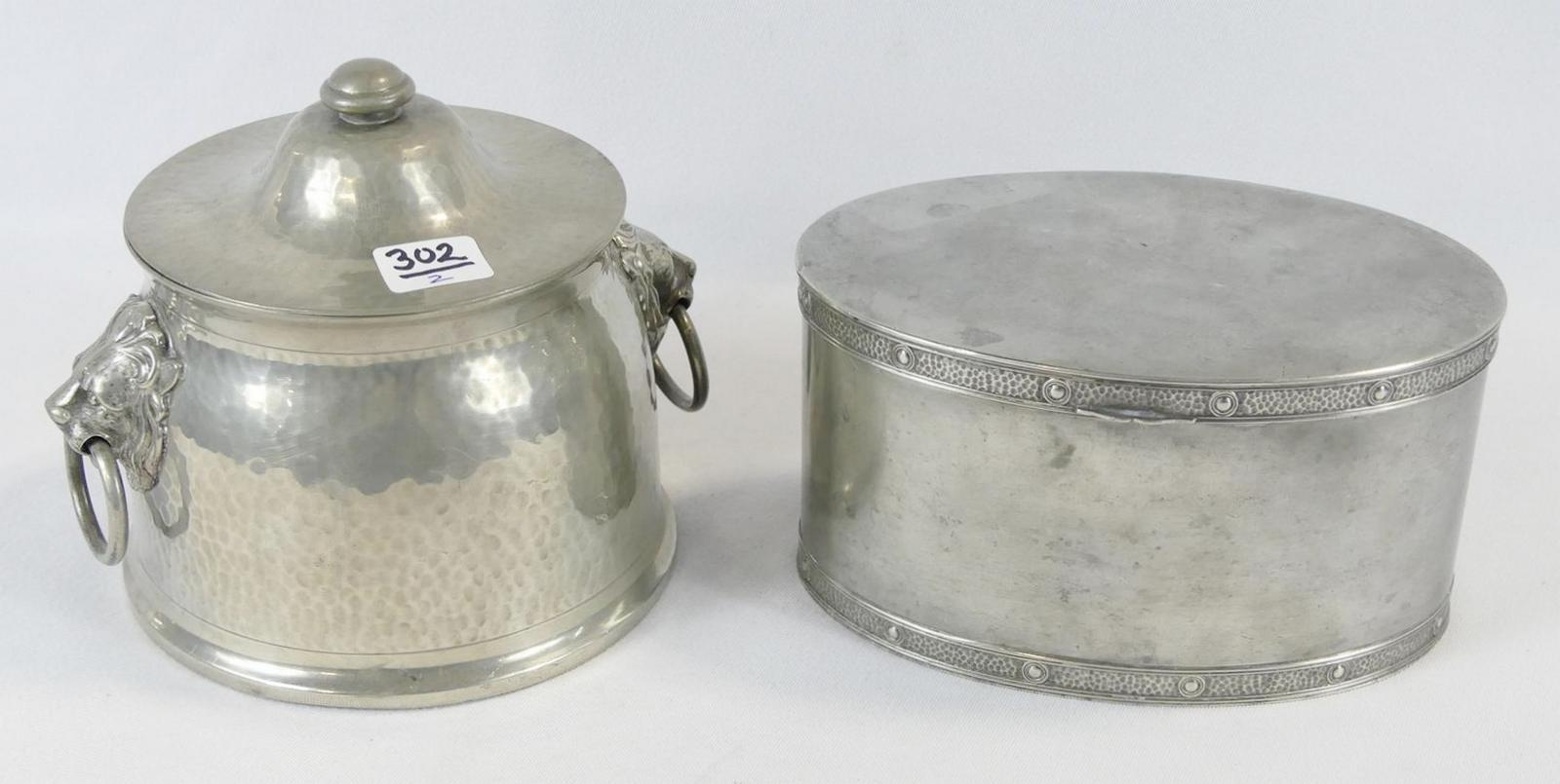 TWO BISCUIT JARS