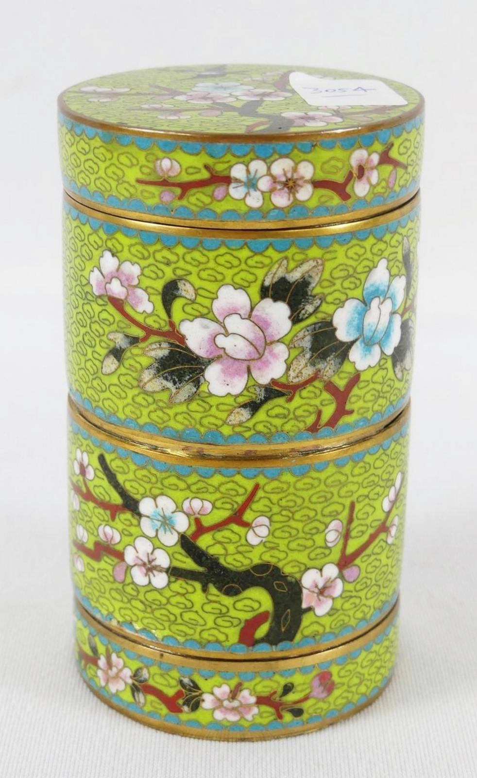 CLOISONNÉ STACKING CONTAINER
