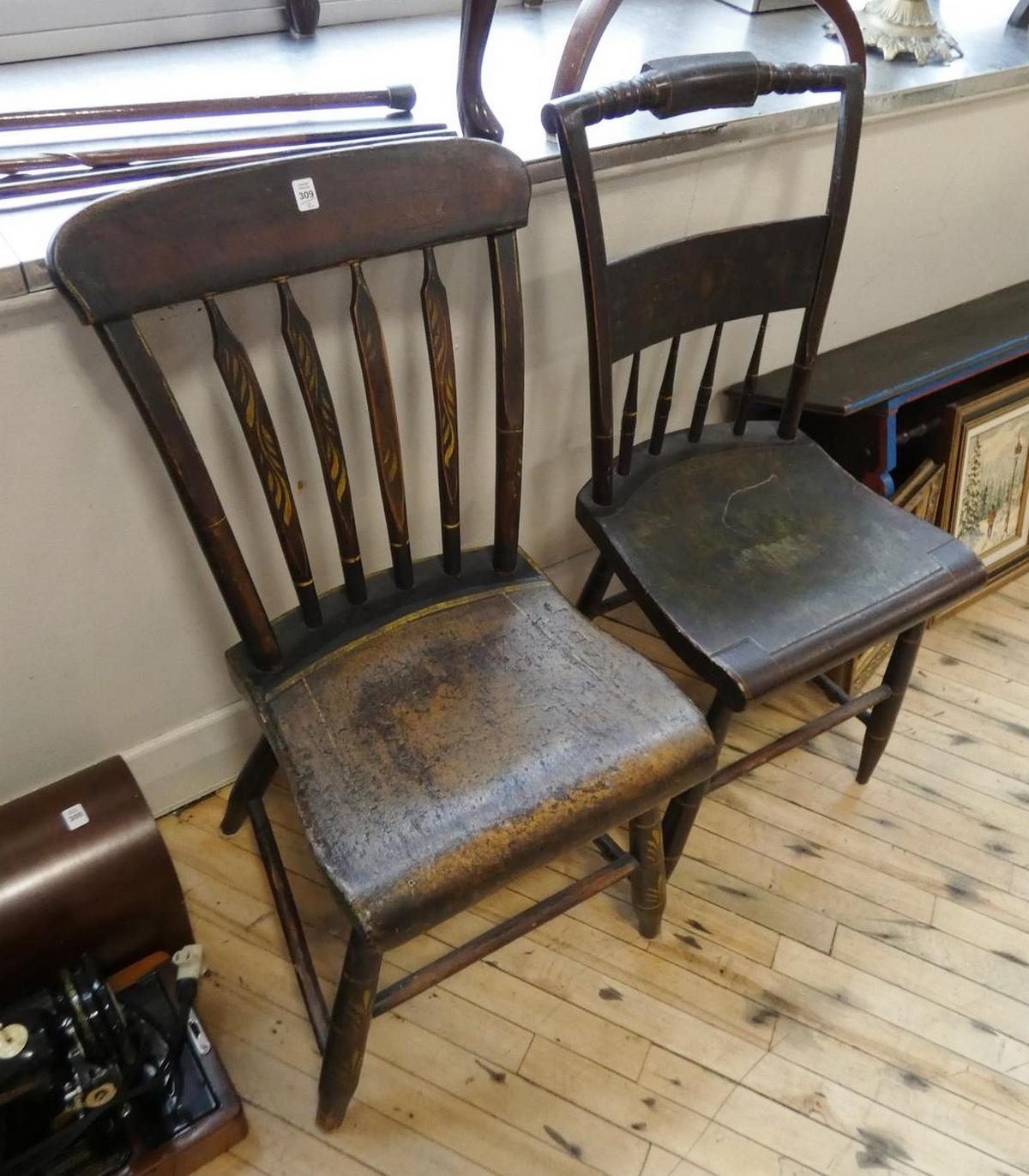 TWO EARLY SIDE CHAIRS