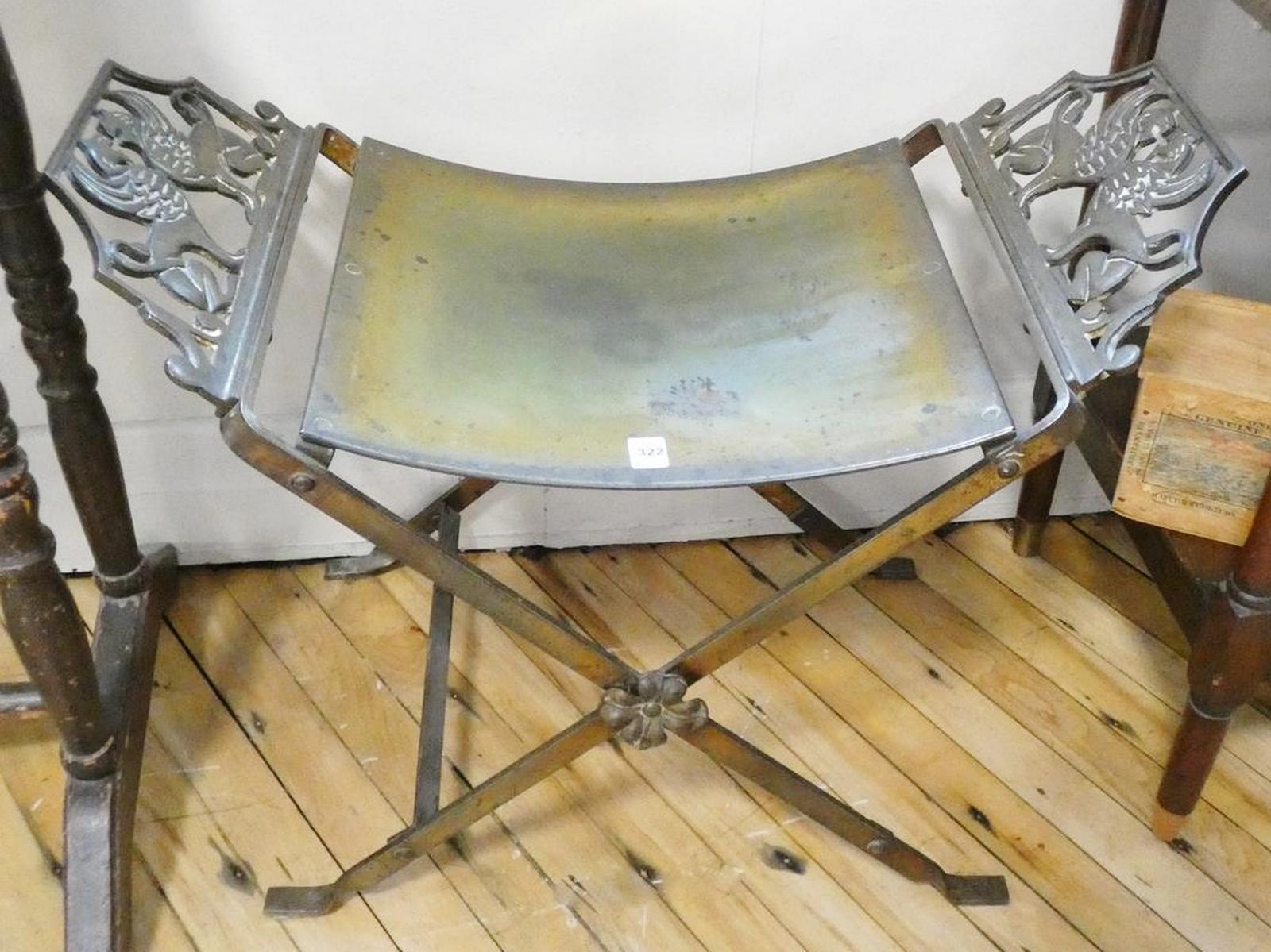 ANTIQUE BRASS BENCH SEAT