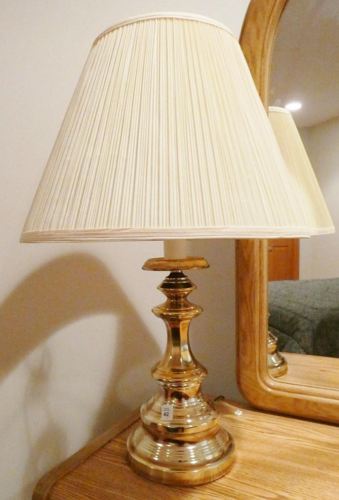 PAIR BRASS TABLE LAMPS