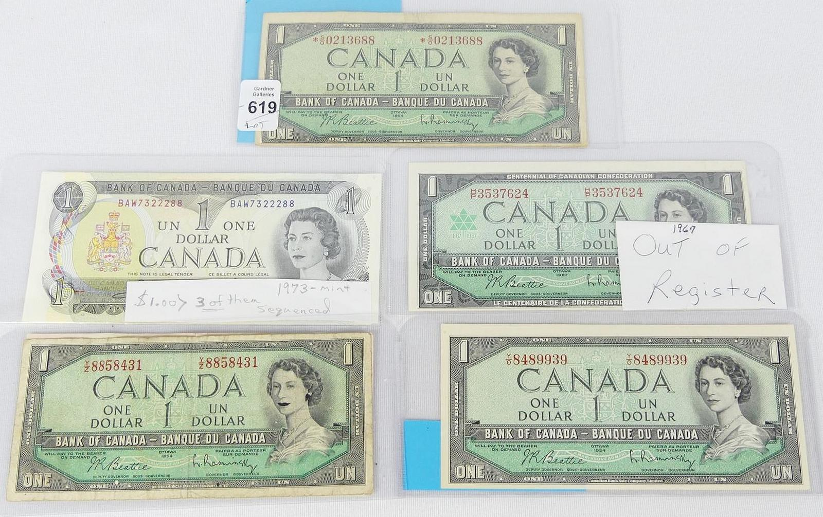 CANADIAN CURRENCY INCLUDING RARITIES