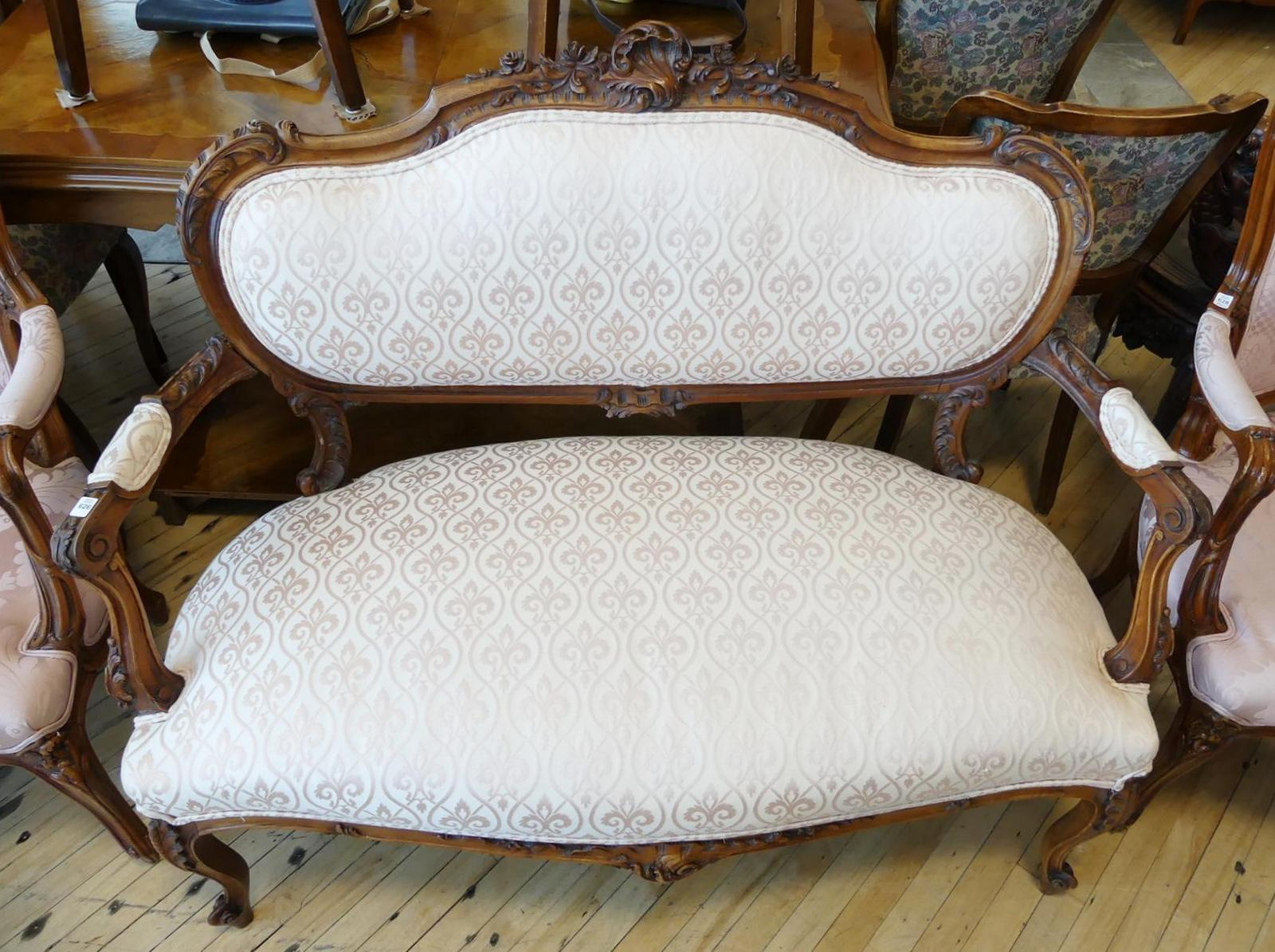 FRENCH PARLOUR SETTEE