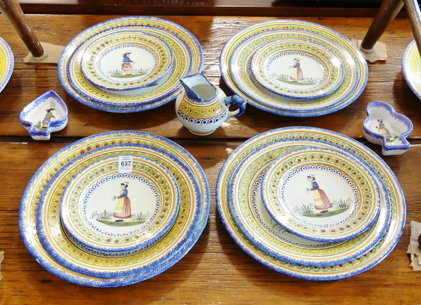 QUIMPER POTTERY DISHES