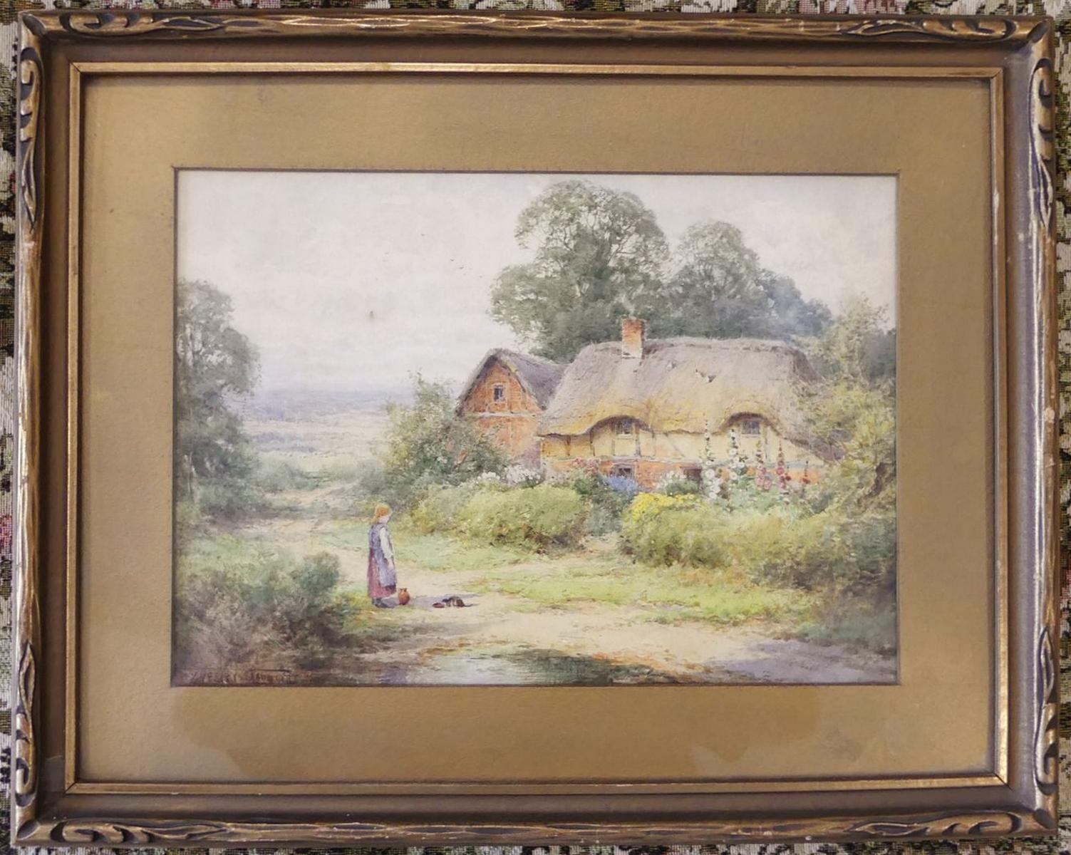 TWO FRAMED ENGLISH WATERCOLOURS