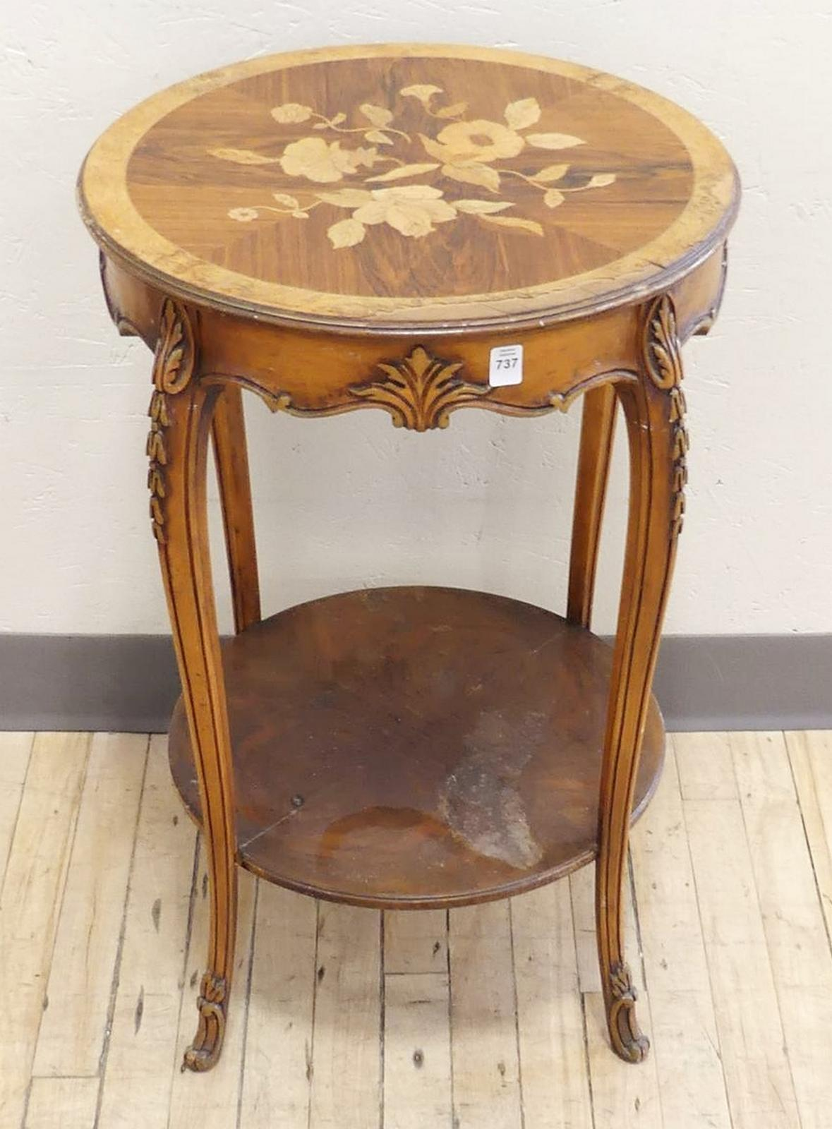TWO-TIER LAMP TABLE