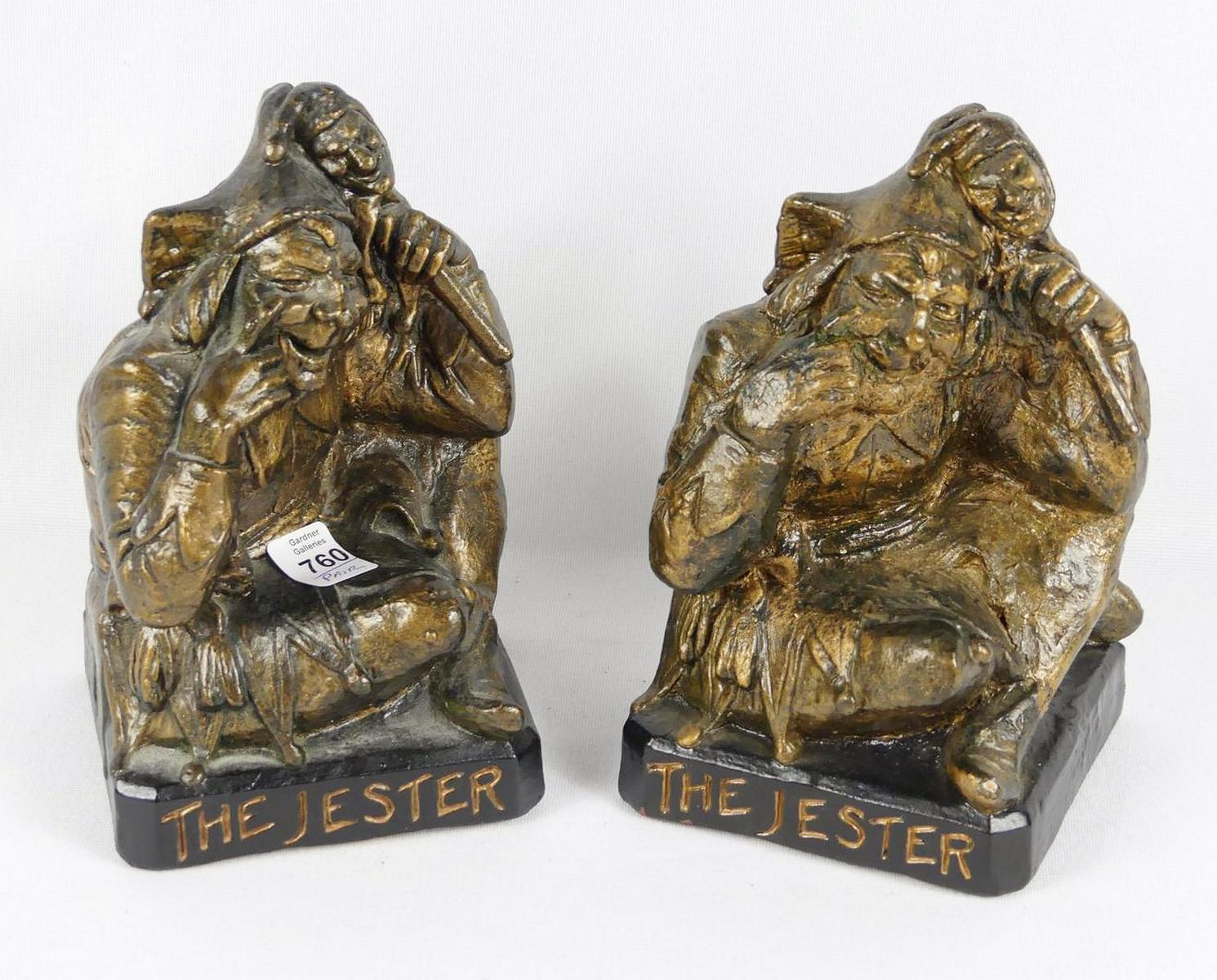 "PAIR OF ""JESTER"" BOOKENDS"