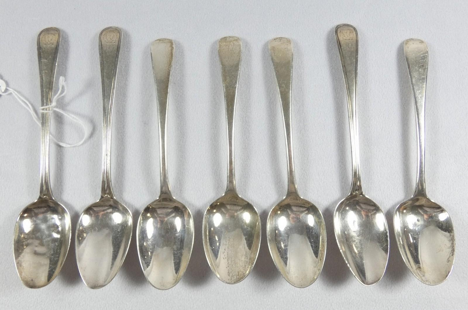 TWELVE SILVERPLATED SERVERS