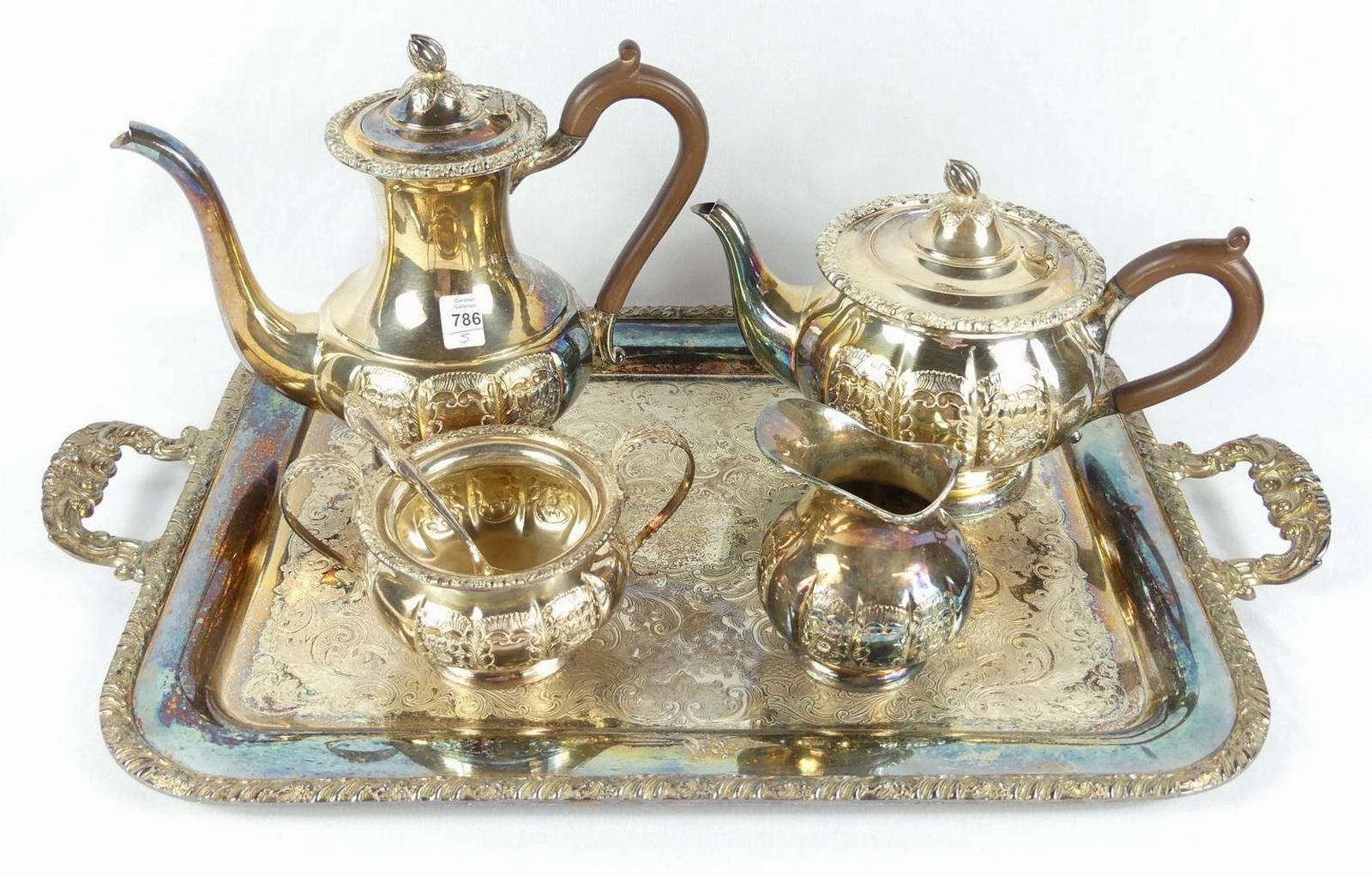 SILVERPLATE TEA & COFFEE SERVICE