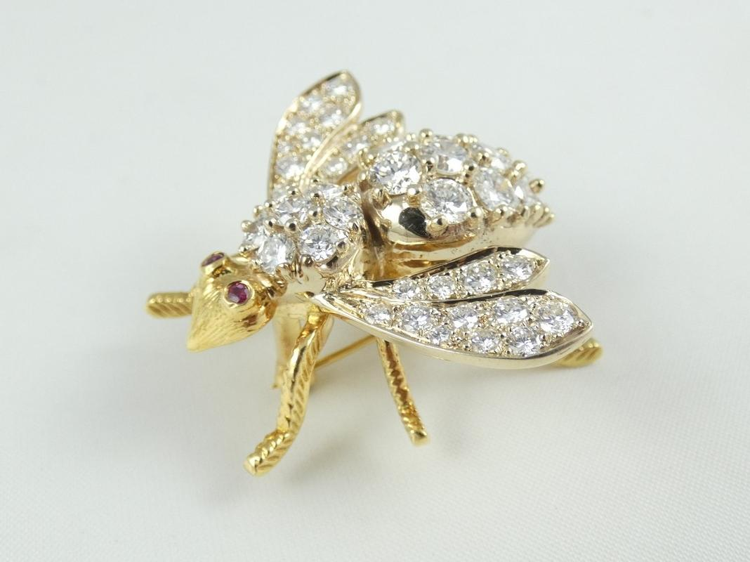 DIAMOND INSECT BROOCH