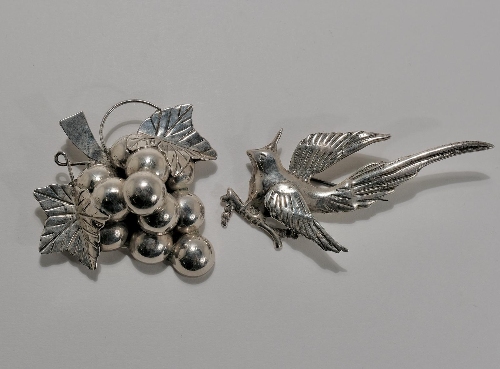 MEXICAN STERLING BROOCHES