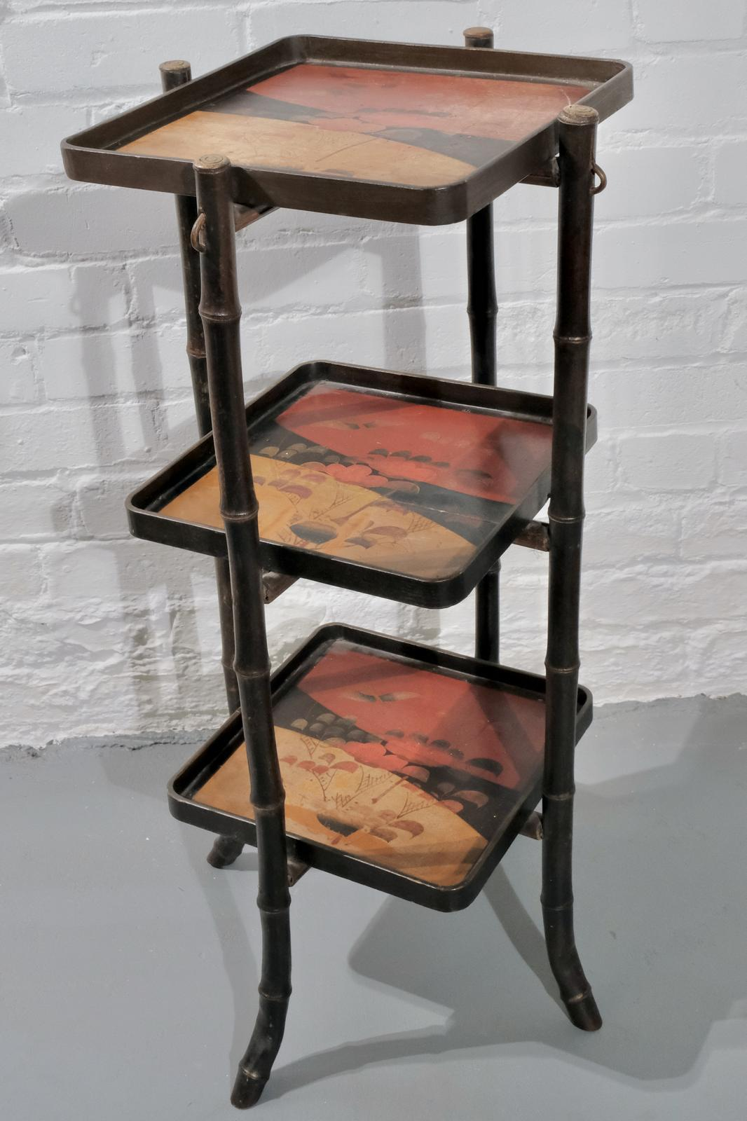 JAPANESE LACQUERED STAND