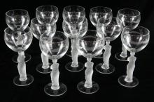 """VENUS DE MILO"" FROSTED GLASS STEMWARE"