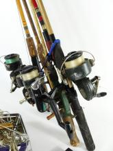 FISHING RODS, REELS & LURES