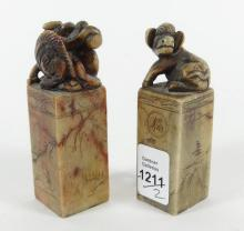TWO CHINESE STONE SEALS