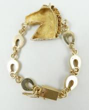 EQUESTRIAN GOLD BRACELET