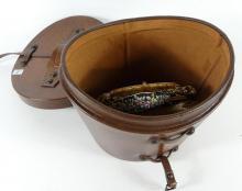 LEATHER HAT BOX & PURSES