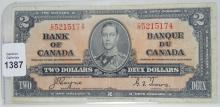 CANADIAN $2 NOTE