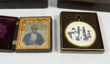 DAGUERREOTYPE, SILHOUETTE AND BOOKENDS