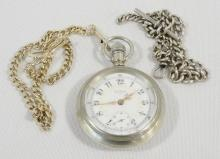 ELGIN POCKET WATCH AND TWO CHAINS