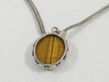 STERLING NECKLACE WITH TIGER EYE