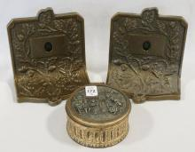 BOOKENDS AND TRINKET BOX