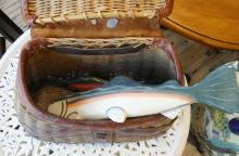 FISHING CREEL AND CARVINGS