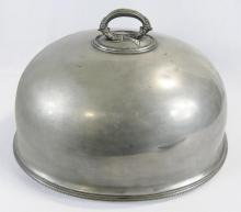 FIVE PEWTER DOMES