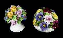 TWO CHINA FLORAL BOUQUETS