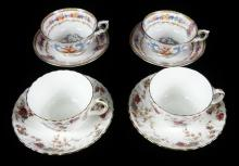 4 CUPS & SAUCERS