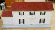 WOODEN DOLLHOUSE AND FURNITURE