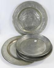 PEWTER PLATES AND CHARGERS