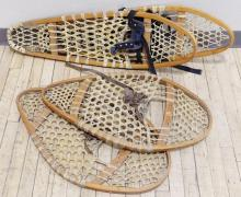 TWO PAIRS SNOWSHOES