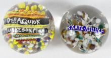 TWO PAPERWEIGHTS