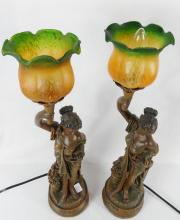 PAIR FIGURAL TABLE LAMPS
