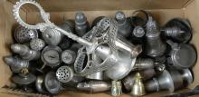 PEWTER SHAKERS AND CONDIMENTS