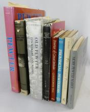 EIGHT PEWTER REFERENCE BOOKS