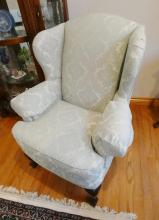 PAIR WING-BACK ARMCHAIRS